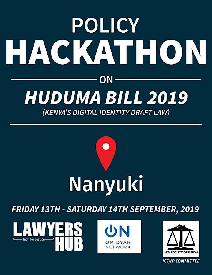 NANYUKI POLICY HACKATHON ON HUDUMA BILL 2019  & DIGITAL ID image