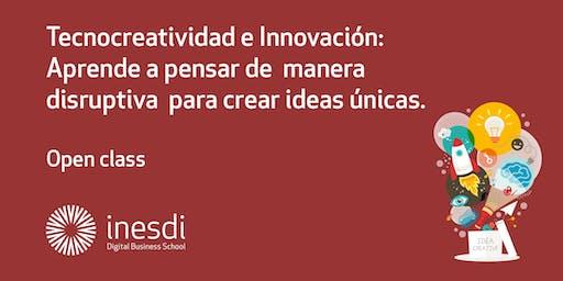 Tecnocreatividad e Innovación: Aprende a pensar de manera disruptiva para crear ideas únicas.