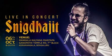 Snigdhajit Live Concert at Sarathi - Durga Puja Event 2019 in Bangalore tickets