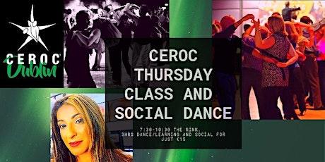 Ceroc Thursday Class and Social Dance The Rink D12 tickets