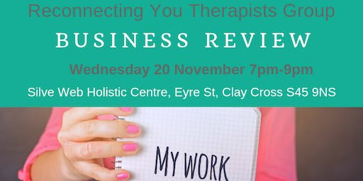 Reconnecting You Therapists Network 20 Nov 2019