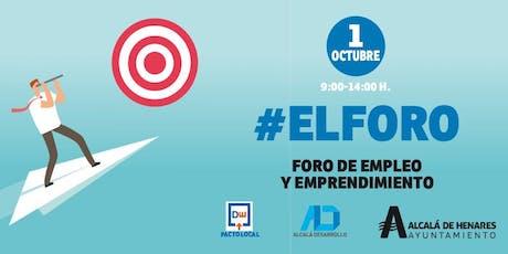 #ElForo, feria de empleo y emprendimiento tickets