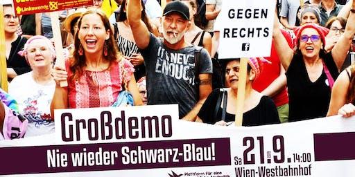 Großdemo: Nie wieder Schwarz-Blau!