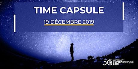 Time Capsule des 50 ans de Sophia Antipolis billets
