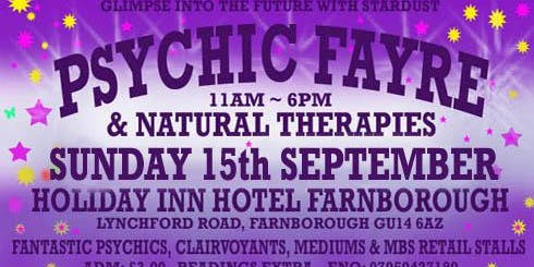 Psychic & Natural Therapy Fayre in Farnborough