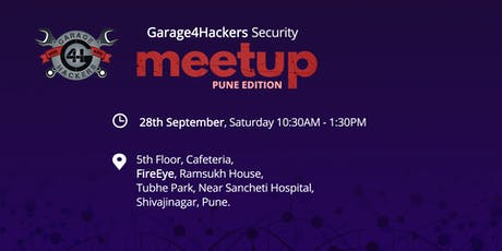 Garage4Hackers Security Meetup - Pune Edition tickets