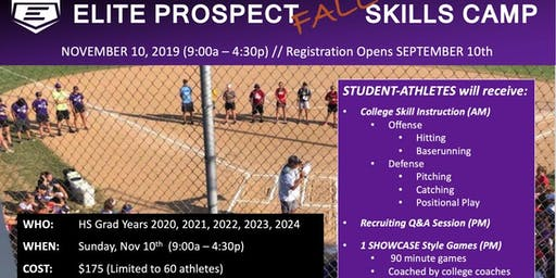 2019 Elite Prospect FALL Skills Camp