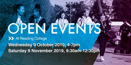 Reading College Autumn Open Events