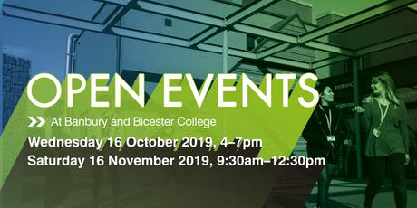 Banbury and Bicester College Autumn Open Events tickets
