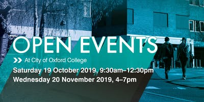 City of Oxford College Autumn Open Events