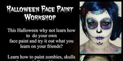 Professional Halloween **** painting Workshop Artist Katie Jane