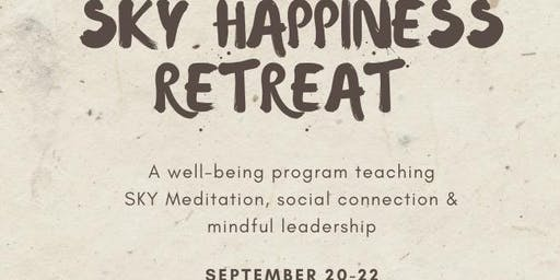 Application for SKY Happiness Retreat-Fall 2019 at NSU