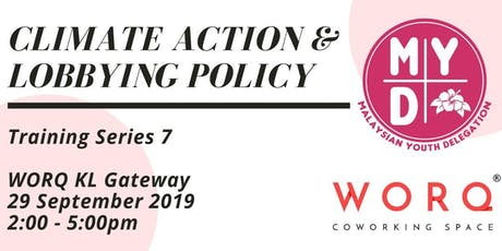 Training Series 7: Climate Action & Lobbying Policy tickets