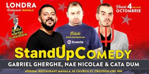 Stand Up Comedy Londra – Gabriel Gherghe, Nae Nicolae & Cata Dum