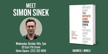 Simon Sinek discusses THE INFINITE GAME at Barnes & Noble - Union Square tickets