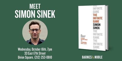 Simon Sinek discusses THE INFINITE GAME at Barnes & Noble - Union Square