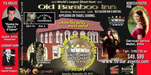 SPECIAL EVENT: World's Largest Ghost Hunt Roaring 20's Throwback