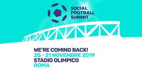 SOCIAL FOOTBALL SUMMIT 2019 tickets