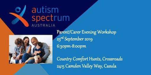 Aspect Greater Western Sydney staff-led evening workshop