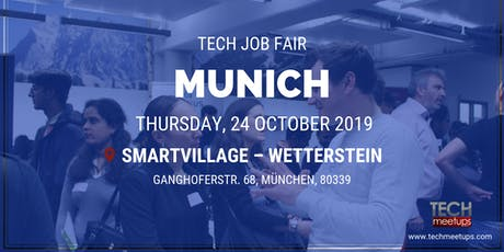 MUNICH TECH JOB FAIR AUTUMN 2019 Tickets
