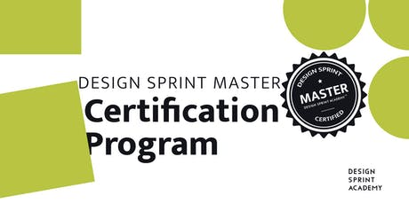 Design Sprint Master Certification Program - San Francisco tickets