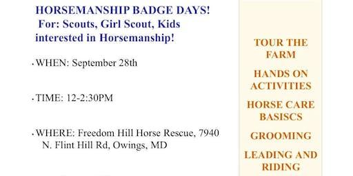 Horsemanship Badge Days
