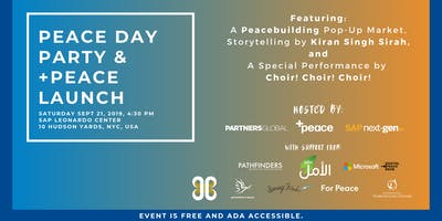 NYC Peace Day Party & +Peace Launch