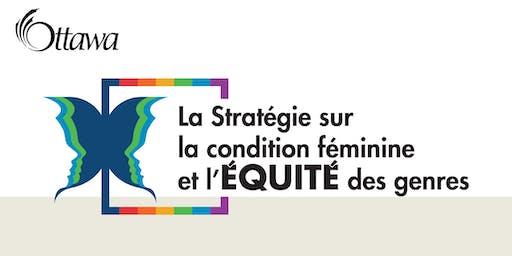 Stratégie sur la condition féminine et l'équité des genres : forum d'engagement du public