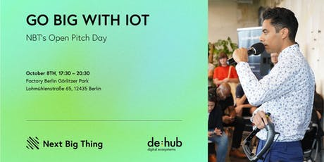 Go Big with IoT: NBT's Open Pitch Day tickets