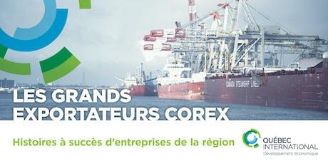 La série « Les Grands Exportateurs COREX » billets