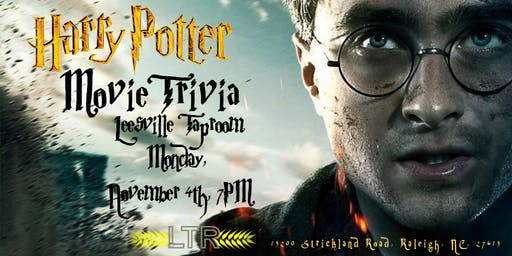 Harry Potter Movies Trivia at Leesville Tap Room