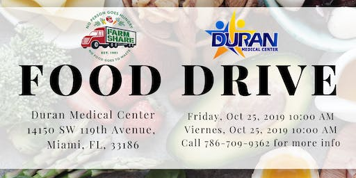 No Person Goes Hungry: Food Drive @ Duran Medical Center