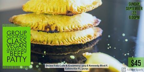 "Group Cooking Class - Vegan Jamaican ""Beef"" Patty tickets"