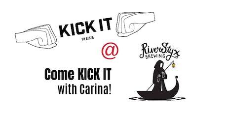 Kick It & Sip It tickets