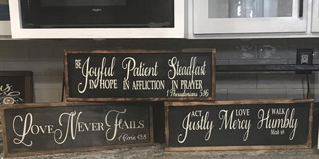 Let's Paint Wood Signs Together tickets
