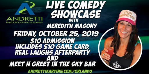 Real Laughs  Comedy Show @ Andretti Indoor Karting & Games-October