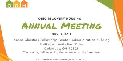 Ohio Recovery Housing Annual Meeting 2019