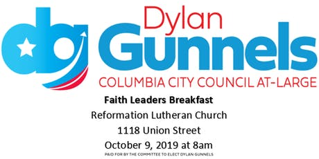 Faith Leaders Breakfast with Pastor Tim Bupp and Dylan Gunnels tickets