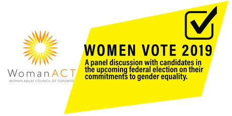 Women Vote 2019: A Panel Discussion on Gender Equality tickets