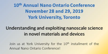 2019 NanoOntario Conference tickets