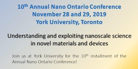 2019 NanoOntario Conference tickets