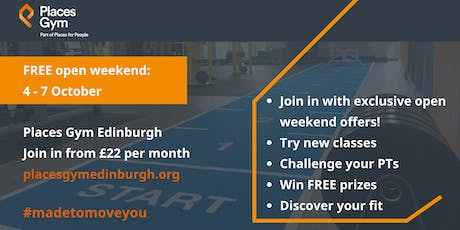 Places Gym Edinburgh, free open weekend tickets