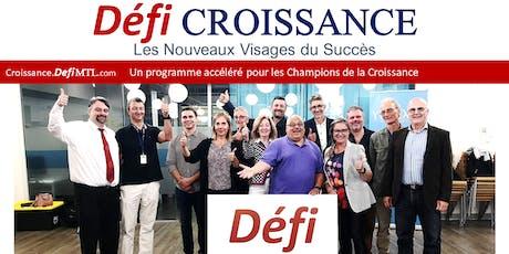 Défi Croissance - Soirée d'informations billets