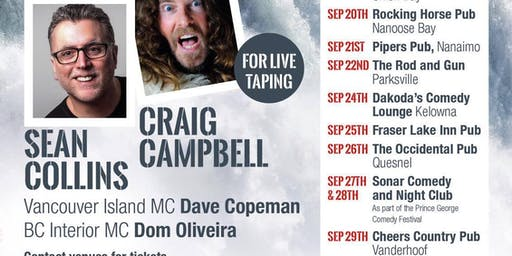 Gone Fishing Stand-up Comedy Tour with Sean Collins & Craig Campbell