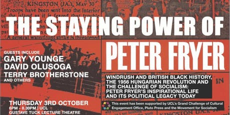 The Staying Power of Peter Fryer tickets
