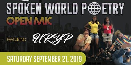Spoken World Poetry Open Mic tickets