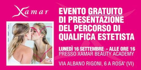 Evento gratuito di presentazione percorso di qualifica estetista biglietti
