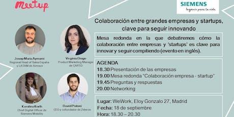 Mesa redonda Colaboración empresa-startup en movilidad, clave para innovar tickets