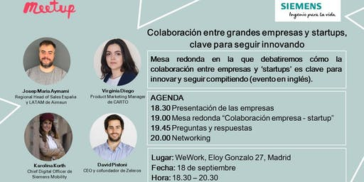 Mesa redonda Colaboración empresa-startup en movilidad, clave para innovar