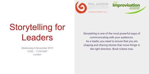 Storytelling for Leaders - 6 November 2019